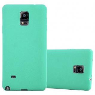 Cadorabo Hülle für Samsung Galaxy NOTE 4 in FROSTY GRÜN - Hardcase Handyhülle aus Plastik gegen Kratzer und Stöße - Schutzhülle Bumper Ultra Slim Back Case Hard Cover