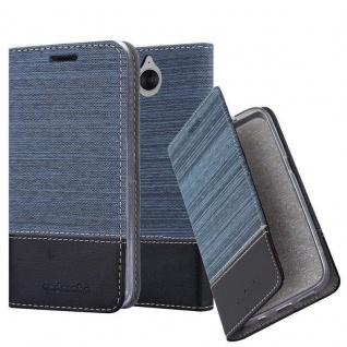 Cadorabo Hülle für Huawei Y6 2017 in DUNKEL BLAU SCHWARZ - Handyhülle mit Magnetverschluss, Standfunktion und Kartenfach - Case Cover Schutzhülle Etui Tasche Book Klapp Style