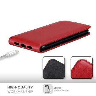 Cadorabo Hülle für Apple iPhone XR in APFEL ROT - Handyhülle im Flip Design mit Magnetverschluss - Case Cover Schutzhülle Etui Tasche Book Klapp Style - Vorschau 3