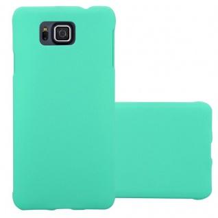 Cadorabo Hülle für Samsung Galaxy ALPHA in FROSTY GRÜN - Hardcase Handyhülle aus Plastik gegen Kratzer und Stöße - Schutzhülle Bumper Ultra Slim Back Case Hard Cover