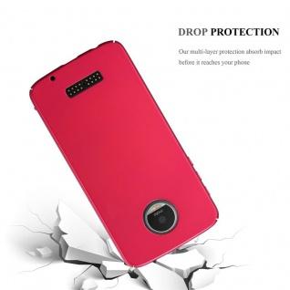 Cadorabo Hülle für Motorola MOTO Z PLAY in METALL ROT ? Hardcase Handyhülle aus Plastik gegen Kratzer und Stöße ? Schutzhülle Bumper Ultra Slim Back Case Hard Cover - Vorschau 3