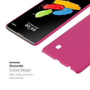 Cadorabo Hülle für LG Stylus 2 in FROSTY PINK - Hardcase Handyhülle aus Plastik gegen Kratzer und Stöße - Schutzhülle Bumper Ultra Slim Back Case Hard Cover - Vorschau 5