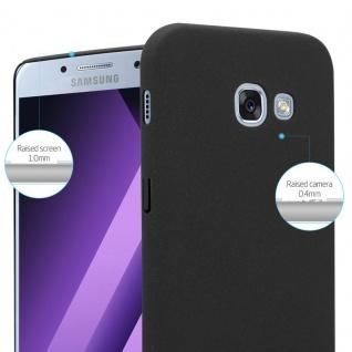 Cadorabo Hülle für Samsung Galaxy A3 2017 in FROSTY SCHWARZ - Hardcase Handyhülle aus Plastik gegen Kratzer und Stöße - Schutzhülle Bumper Ultra Slim Back Case Hard Cover - Vorschau 4