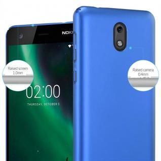 Cadorabo Hülle für Nokia 2 2017 in METALL BLAU ? Hardcase Handyhülle aus Plastik gegen Kratzer und Stöße ? Schutzhülle Bumper Ultra Slim Back Case Hard Cover - Vorschau 4