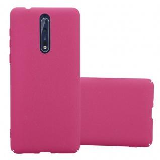 Cadorabo Hülle für Nokia 8 2017 in FROSTY PINK - Hardcase Handyhülle aus Plastik gegen Kratzer und Stöße - Schutzhülle Bumper Ultra Slim Back Case Hard Cover