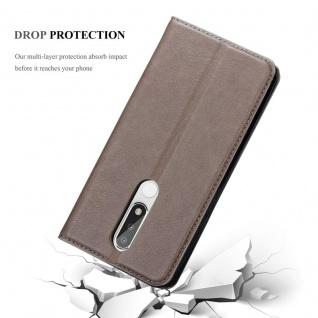 Cadorabo Hülle für Nokia 5.1 PLUS in KAFFEE BRAUN - Handyhülle mit Magnetverschluss, Standfunktion und Kartenfach - Case Cover Schutzhülle Etui Tasche Book Klapp Style - Vorschau 5