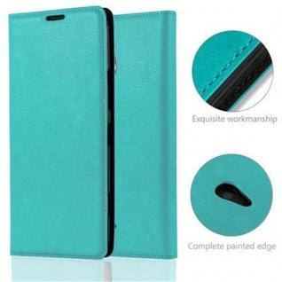 Cadorabo Hülle für Nokia Lumia 1320 in PETROL TÜRKIS - Handyhülle mit Magnetverschluss, Standfunktion und Kartenfach - Case Cover Schutzhülle Etui Tasche Book Klapp Style - Vorschau 2