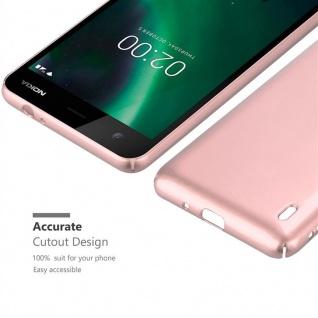 Cadorabo Hülle für Nokia 2 2017 in METALL ROSÉ GOLD - Hardcase Handyhülle aus Plastik gegen Kratzer und Stöße - Schutzhülle Bumper Ultra Slim Back Case Hard Cover - Vorschau 5