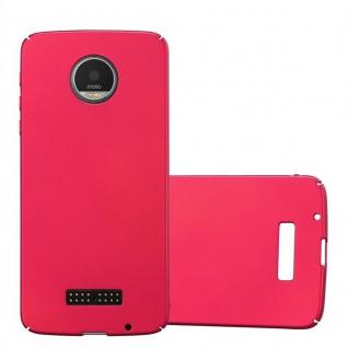 Cadorabo Hülle für Motorola MOTO Z in METALL ROT Hardcase Handyhülle aus Plastik gegen Kratzer und Stöße Schutzhülle Bumper Ultra Slim Back Case Hard Cover