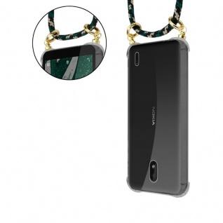 Cadorabo Handy Kette für Nokia 1 PLUS in CAMOUFLAGE - Silikon Necklace Umhänge Hülle mit Gold Ringen, Kordel Band Schnur und abnehmbarem Etui ? Schutzhülle - Vorschau 5