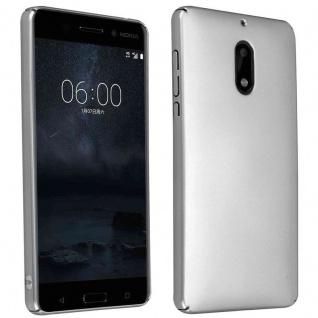 Cadorabo Hülle für Nokia 6 2017 in METALL SILBER ? Hardcase Handyhülle aus Plastik gegen Kratzer und Stöße ? Schutzhülle Bumper Ultra Slim Back Case Hard Cover