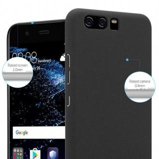 Cadorabo Hülle für Huawei P10 in FROSTY SCHWARZ - Hardcase Handyhülle aus Plastik gegen Kratzer und Stöße - Schutzhülle Bumper Ultra Slim Back Case Hard Cover - Vorschau 3
