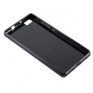 Cadorabo Hülle für Huawei P8 LITE 2015 in SCHWARZ - Handyhülle aus flexiblem TPU Silikon - Silikonhülle Schutzhülle Ultra Slim Soft Back Cover Case Bumper - Vorschau 3