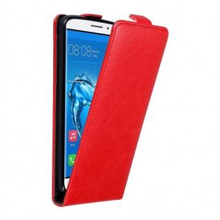 Cadorabo Hülle für Huawei NOVA PLUS in APFEL ROT - Handyhülle im Flip Design mit unsichtbarem Magnetverschluss - Case Cover Schutzhülle Etui Tasche Book Klapp Style