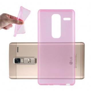 Cadorabo Hülle für LG CLASS in TRANSPARENT PINK - Handyhülle aus flexiblem TPU Silikon - Silikonhülle Schutzhülle Ultra Slim Soft Back Cover Case Bumper