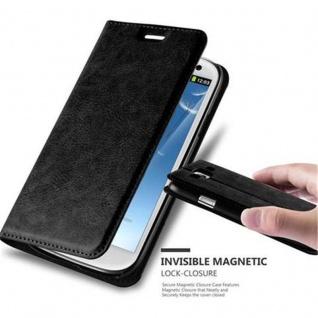 Cadorabo Hülle für Samsung Galaxy S3 / S3 NEO in NACHT SCHWARZ - Handyhülle mit Magnetverschluss, Standfunktion und Kartenfach - Case Cover Schutzhülle Etui Tasche Book Klapp Style