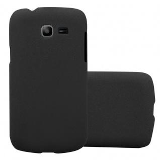 Cadorabo Hülle für Samsung Galaxy TREND LITE in FROSTY SCHWARZ - Hardcase Handyhülle aus Plastik gegen Kratzer und Stöße - Schutzhülle Bumper Ultra Slim Back Case Hard Cover