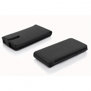 Cadorabo Hülle für Sony Xperia S in OXID SCHWARZ - Handyhülle im Flip Design aus strukturiertem Kunstleder - Case Cover Schutzhülle Etui Tasche Book Klapp Style - Vorschau 3