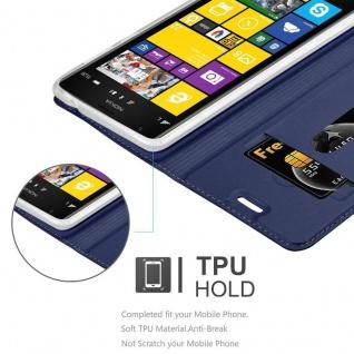 Cadorabo Hülle für Nokia Lumia 1520 in CLASSY DUNKEL BLAU - Handyhülle mit Magnetverschluss, Standfunktion und Kartenfach - Case Cover Schutzhülle Etui Tasche Book Klapp Style - Vorschau 2