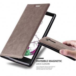 Cadorabo Hülle für LG G4 / G4 PLUS in KAFFEE BRAUN - Handyhülle mit Magnetverschluss, Standfunktion und Kartenfach - Case Cover Schutzhülle Etui Tasche Book Klapp Style