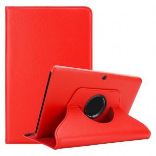 """Cadorabo Tablet Hülle für Samsung Galaxy Tab 4 (10, 1"""" Zoll) SM-T530 / T535 in MOHN ROT Book Style Schutzhülle OHNE Auto Wake Up mit Standfunktion und Gummiband Verschluss"""