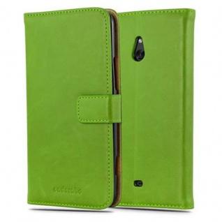 Cadorabo Hülle für Nokia Lumia 1320 in GRAS GRÜN - Handyhülle mit Magnetverschluss, Standfunktion und Kartenfach - Case Cover Schutzhülle Etui Tasche Book Klapp Style