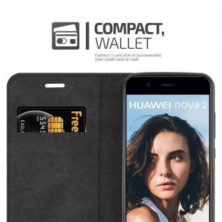 Cadorabo Hülle für Huawei NOVA 2 in APFEL ROT - Handyhülle mit Magnetverschluss, Standfunktion und Kartenfach - Case Cover Schutzhülle Etui Tasche Book Klapp Style - Vorschau 5