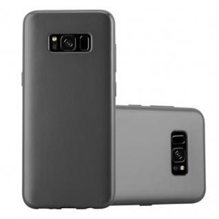 Cadorabo Hülle für Samsung Galaxy S8 in METALLIC GRAU - Handyhülle aus flexiblem TPU Silikon - Silikonhülle Schutzhülle Ultra Slim Soft Back Cover Case Bumper