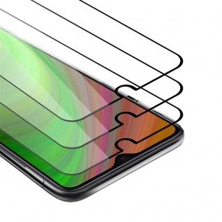 Cadorabo 3x Vollbild Panzer Folie für Xiaomi RedMi Note 8 PRO Schutzfolie in TRANSPARENT mit SCHWARZ 3er Pack Gehärtetes (Tempered) Display-Schutzglas in 9H Härte mit 3D Touch