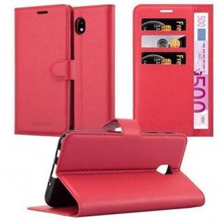 Cadorabo Hülle für Samsung Galaxy J5 2017 in KARMIN ROT - Handyhülle mit Magnetverschluss, Standfunktion und Kartenfach - Case Cover Schutzhülle Etui Tasche Book Klapp Style