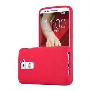 Cadorabo Hülle für LG G2 in FROST ROT - Handyhülle aus flexiblem TPU Silikon - Silikonhülle Schutzhülle Ultra Slim Soft Back Cover Case Bumper