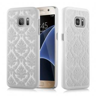 Samsung Galaxy S7 Hardcase Hülle in WEIß von Cadorabo - Blumen Paisley Henna Design Schutzhülle ? Handyhülle Bumper Back Case Cover
