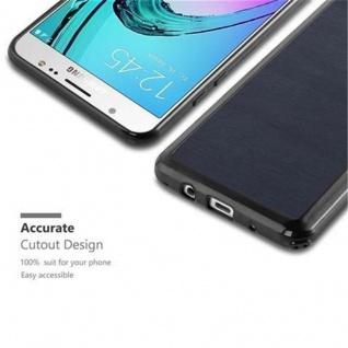 Cadorabo Hülle für Samsung Galaxy J5 2016 in WOODEN BLAU - Handyhülle aus flexiblem TPU Silikon - Silikonhülle Schutzhülle Ultra Slim Soft Back Cover Case Bumper - Vorschau 2