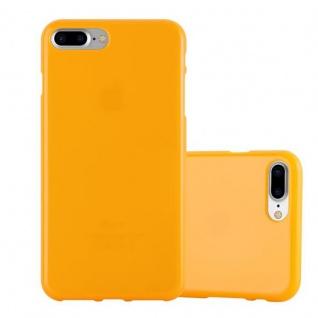 Cadorabo Hülle für Apple iPhone 8 PLUS / iPhone 7 PLUS / iPhone 7S PLUS in JELLY GELB Handyhülle aus flexiblem TPU Silikon Silikonhülle Schutzhülle Ultra Slim Soft Back Cover Case Bumper