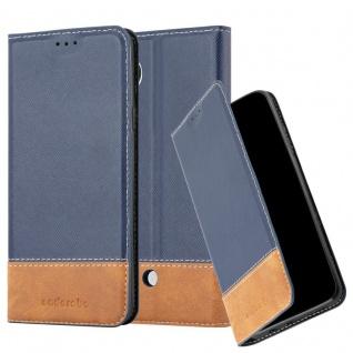 Cadorabo Hülle für LG NEXUS 5 in DUNKEL BLAU BRAUN ? Handyhülle mit Magnetverschluss, Standfunktion und Kartenfach ? Case Cover Schutzhülle Etui Tasche Book Klapp Style
