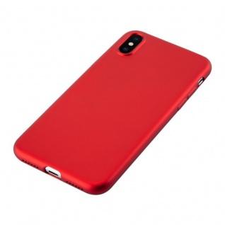 Cadorabo Hülle für Apple iPhone X / XS in METALLIC ROT - Handyhülle aus flexiblem TPU Silikon - Silikonhülle Schutzhülle Ultra Slim Soft Back Cover Case Bumper - Vorschau 3