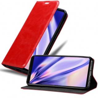 Cadorabo Hülle für Sony Xperia 1 in APFEL ROT Handyhülle mit Magnetverschluss, Standfunktion und Kartenfach Case Cover Schutzhülle Etui Tasche Book Klapp Style