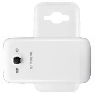 Cadorabo Hülle für Samsung Galaxy ACE 3 in VOLL TRANSPARENT - Handyhülle aus flexiblem TPU Silikon - Silikonhülle Schutzhülle Ultra Slim Soft Back Cover Case Bumper