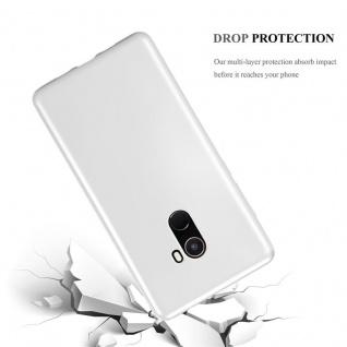 Cadorabo Hülle für Xiaomi Mi Mix 2 in METALLIC SILBER - Handyhülle aus flexiblem TPU Silikon - Silikonhülle Schutzhülle Ultra Slim Soft Back Cover Case Bumper - Vorschau 3