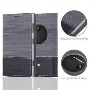 Cadorabo Hülle für Nokia Lumia 1020 in GRAU SCHWARZ - Handyhülle mit Magnetverschluss, Standfunktion und Kartenfach - Case Cover Schutzhülle Etui Tasche Book Klapp Style - Vorschau 2