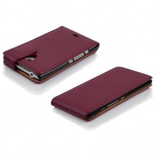 Cadorabo Hülle für Sony Xperia T in BORDEAUX LILA - Handyhülle im Flip Design aus strukturiertem Kunstleder - Case Cover Schutzhülle Etui Tasche Book Klapp Style - Vorschau 3