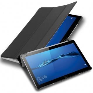 """Cadorabo Tablet Hülle für Huawei MediaPad M3 LITE 10 (10"""" Zoll) in SATIN SCHWARZ Ultra Dünne Book Style Schutzhülle mit Auto Wake Up und Standfunktion aus Kunstleder - Vorschau 1"""