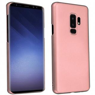 Cadorabo Hülle für Samsung Galaxy S9 PLUS in METALL ROSÉ GOLD ? Hardcase Handyhülle aus Plastik gegen Kratzer und Stöße ? Schutzhülle Bumper Ultra Slim Back Case Hard Cover