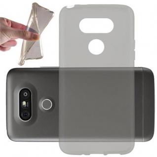 Cadorabo Hülle für LG G5 in TRANSPARENT SCHWARZ - Handyhülle aus flexiblem TPU Silikon - Silikonhülle Schutzhülle Ultra Slim Soft Back Cover Case Bumper