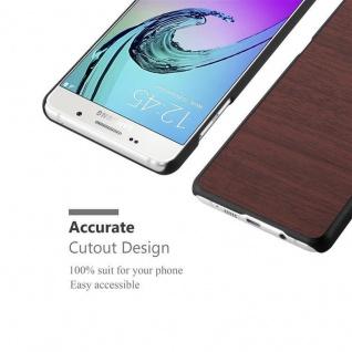 Cadorabo Hülle für Samsung Galaxy A5 2016 in WOODEN KAFFEE ? Handyhülle aus flexiblem TPU Silikon ? Silikonhülle Schutzhülle Ultra Slim Soft Back Cover Case Bumper - Vorschau 5