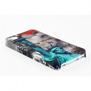 Cadorabo - Hard Cover für Apple iPhone 4 / iPhone 4S - Case Cover Schutzhülle Bumper im Design: NEW YORK - FREIHEITSSTATUE - Vorschau 3
