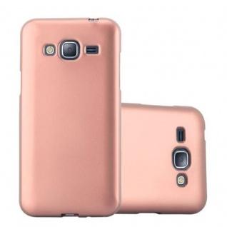 Cadorabo Hülle für Samsung Galaxy J3 / J3 DUOS 2016 in METALLIC ROSE GOLD - Handyhülle aus flexiblem TPU Silikon - Silikonhülle Schutzhülle Ultra Slim Soft Back Cover Case Bumper