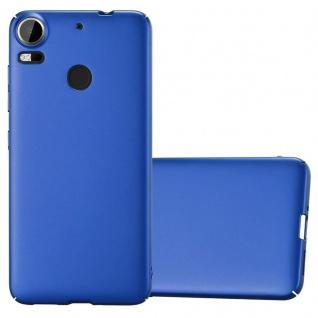 Cadorabo Hülle für HTC Desire 10 PRO in METALL BLAU - Hardcase Handyhülle aus Plastik gegen Kratzer und Stöße - Schutzhülle Bumper Ultra Slim Back Case Hard Cover