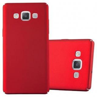 Cadorabo Hülle für Samsung Galaxy A5 2015 in METALL ROT Hardcase Handyhülle aus Plastik gegen Kratzer und Stöße Schutzhülle Bumper Ultra Slim Back Case Hard Cover
