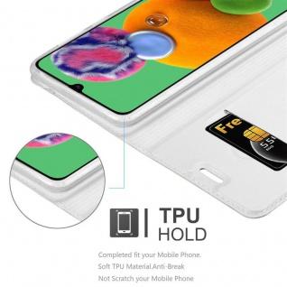 Cadorabo Hülle für Samsung Galaxy A90 5G in CLASSY SILBER - Handyhülle mit Magnetverschluss, Standfunktion und Kartenfach - Case Cover Schutzhülle Etui Tasche Book Klapp Style - Vorschau 4